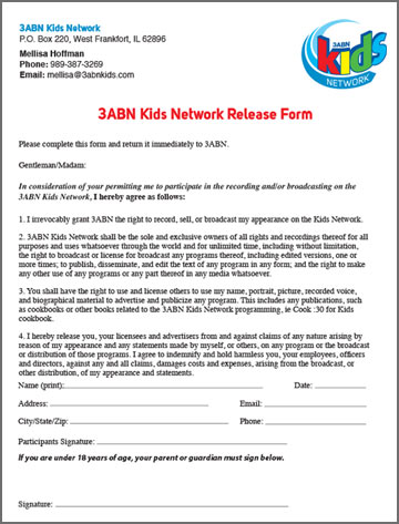 Download The Release Form Here